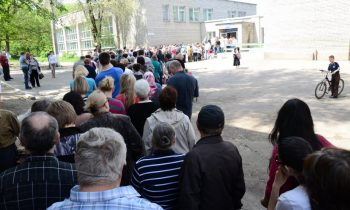 Donetsk residents stage rare protest against rebel authority in Ukraine
